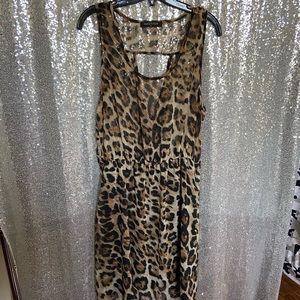 Leopard Chiffon Tank Dress